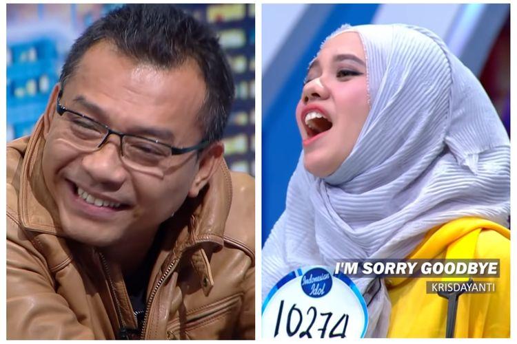 Penyanyi Anang Hermansyah dan kontestan Indonesian Idol Tamara Aisyah.