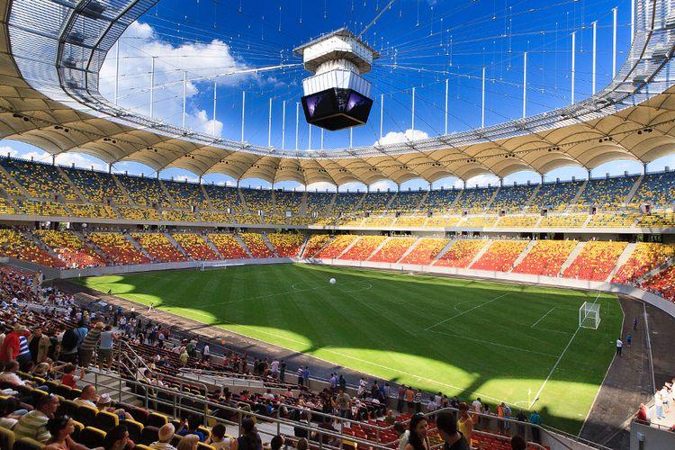 Stadion National Arena, Romania, yang akan menjadi tempat dihelatnya laga 16 besar Euro 2020 antara Timnas Prancis dan Swiss.