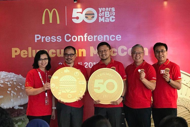 Peluncuran MacCoin McDonalds, Senin (30/7/2018), McDonalds Sarinah, Jakarta Pusat.