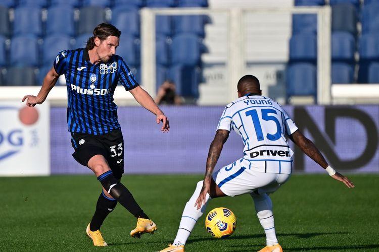 Pertandingan Atalanta vs Inter Milan pada matchday ketujuh Liga Italia 2020-2021 di Stadion Gewiss, Bergamo, Minggu (8/11/2020).