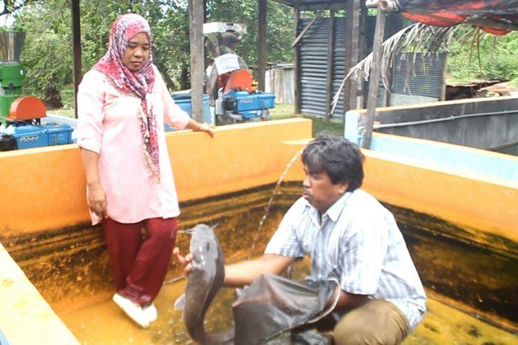 Dari lele dumbo, Megawati dan suaminya berhasil menyekolahkan sang anak hingga jenjang s2.