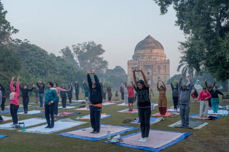 Udara Delhi yang begitu buruk pada awal November 2017 membuat aktivitas olahraga semacam ini disebut berbahaya.