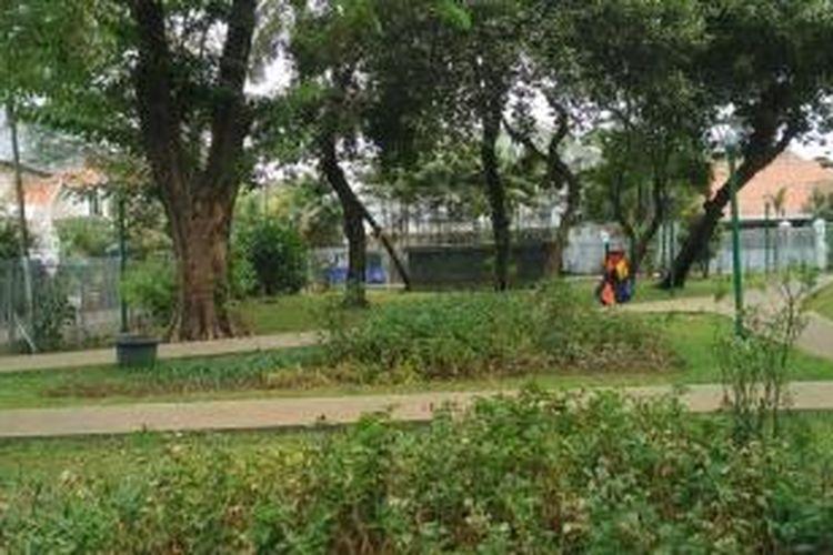 RPTRA Cideng, Jakarta Pusat, dibangun di atas lahan seluas 2.600 meter persegi. Foto diambil Selasa (13/10/2015).