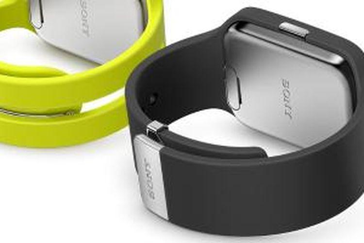 Sony Smartwatch 3 SWR 50, perangkat jam tangan pintar yang sudah menggunakan sistem operasi Android Wear.