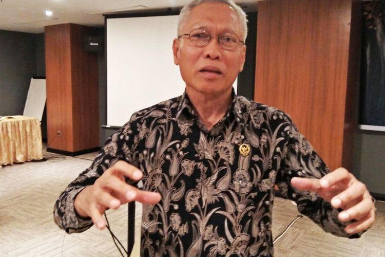 Sumartoyo, Ketua Bidang SDM Advokasi Hukum Penelitian dan Pengembangan KY saat ditemui di Medan, Selasa (29/8/2017)