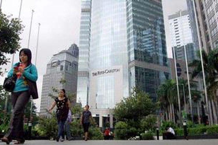 Kawasan bisnis terpadu, CBD Sudirman, Jakarta Pusat.