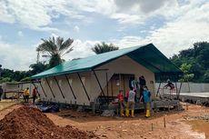 Pembangunan Tenda Penampungan Pasien di Zona 2 Rumah Lawan Covid-19 Tangsel Selesai Dibangun