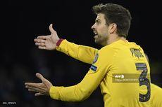 Napoli Vs Barcelona, Gerard Pique Cedera dan Dua Pemain Skorsing untuk Leg Kedua