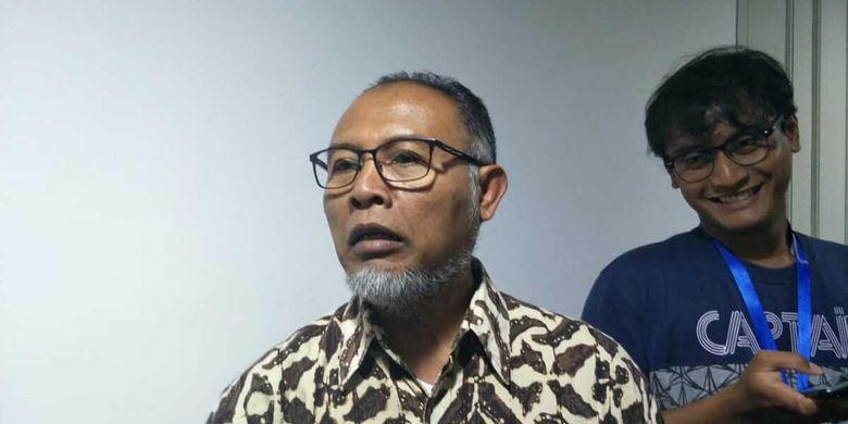 Ketua Bidang Hukum dan Pencegahan Korupsi Tim Gubernur untuk Percepatan Pembangunan (TGUPP) Bambang Widjojanto (BW) di Balai Kota, Jakarta Pusat, Selasa (10/12/2019) malam
