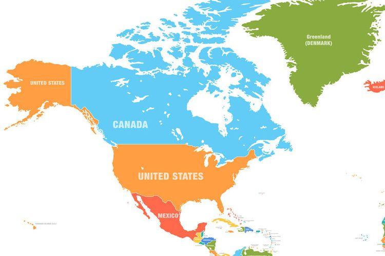Ilustrasi Peta Dunia