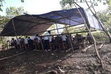 Siswa SMP Ikuti Try Out di Puncak Bukit, Kadis Pendidikan: Ini Risiko Ujian Berbasis Komputer