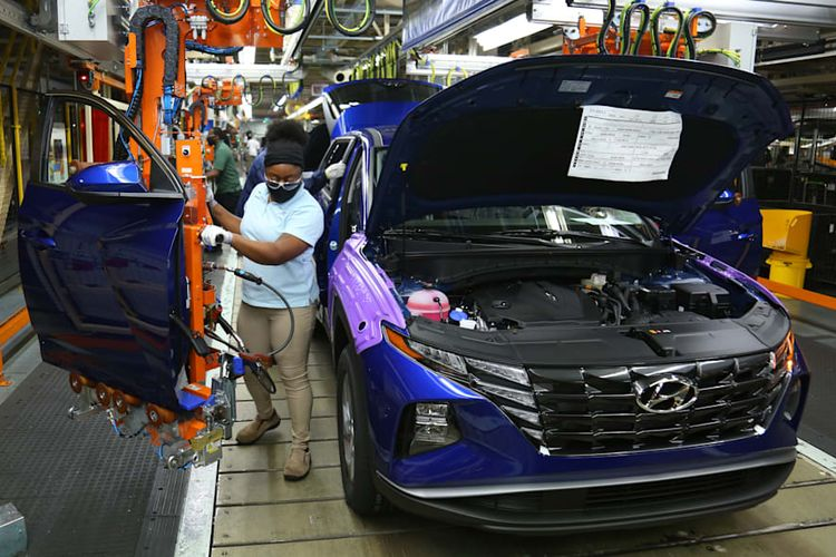 Ilustrasi pabrik Hyundai di Alabama, AS.