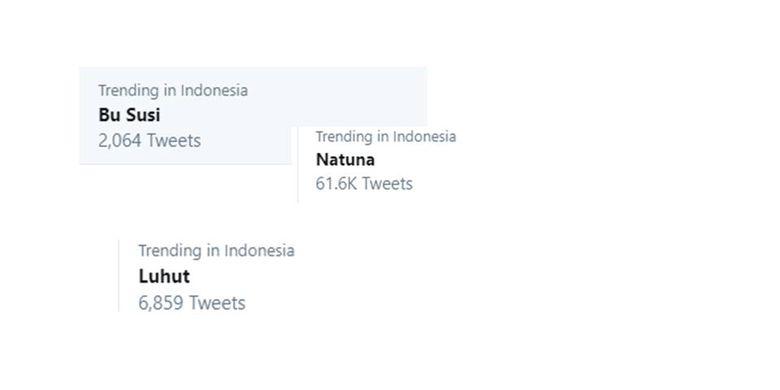 Beberapa trending Twitter Indonesia, Sabtu (4/1/2020) pagi.