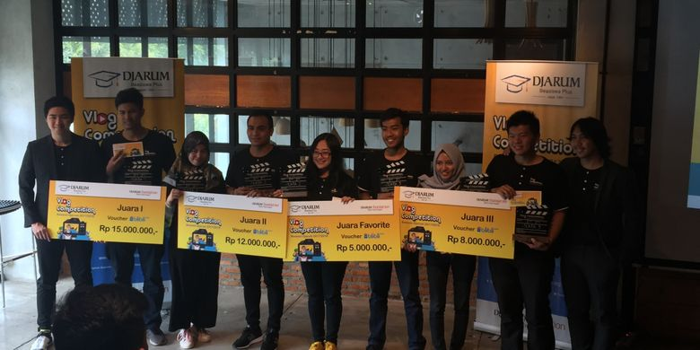 Para pemenang Vlog Competiton Beswan Djarum 2017/2018