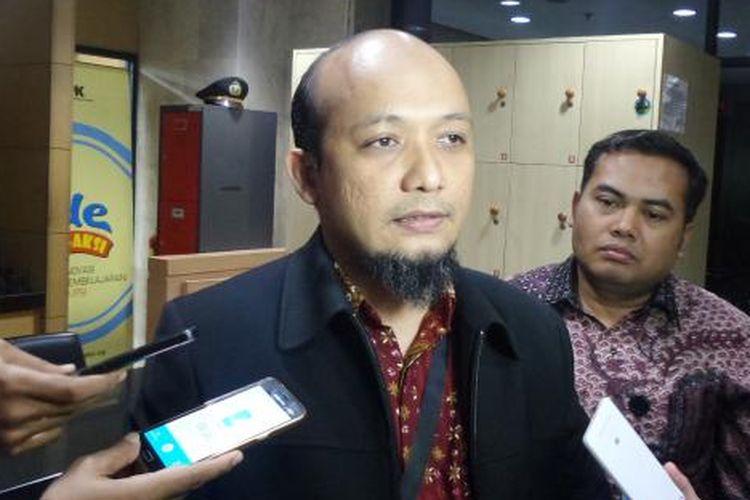 Ketua Wadah Pegawai KPK Novel Baswedan di Gedung KPK Jakarta, Jumat (11/11/2016).