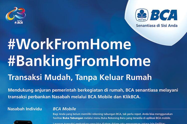 BCA Mobile dan KlikBCA Bisnis bantu nasabah lakukan transaksi harian tanpa harus keluar rumah.
