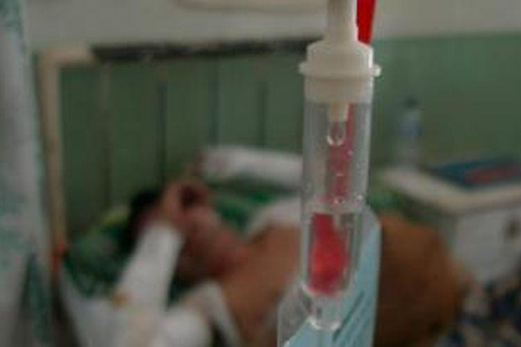 Sapri dirawat di Ruang Asoka, RSUD Andi Makkasau Kota Parepare, Sulawesi Selatan, dengan derita luka bakar 50 persen disekujur tubuhnya