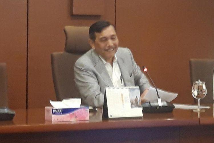 Menteri Koordinator Bidang Kemaritiman Luhut Binsar Pandjaitan di Jakarta, Senin (5/8/2019).