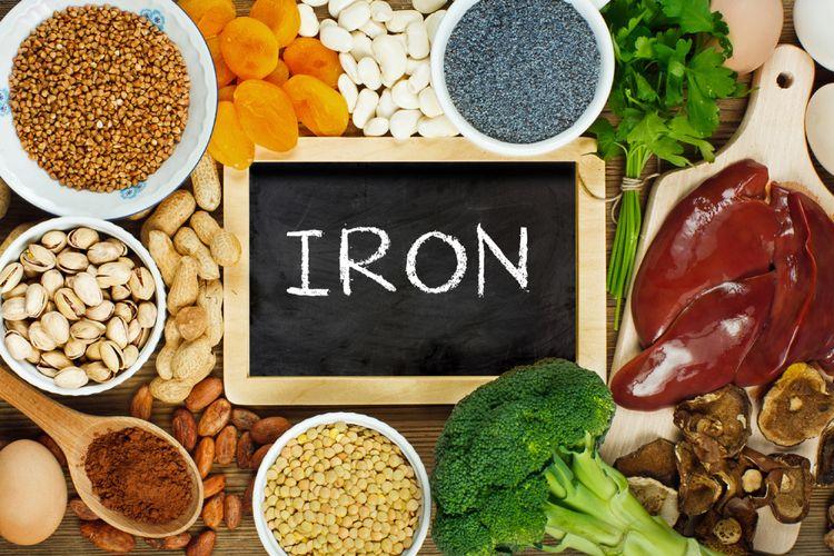 ustrasi makanan yang mengandung zat besi