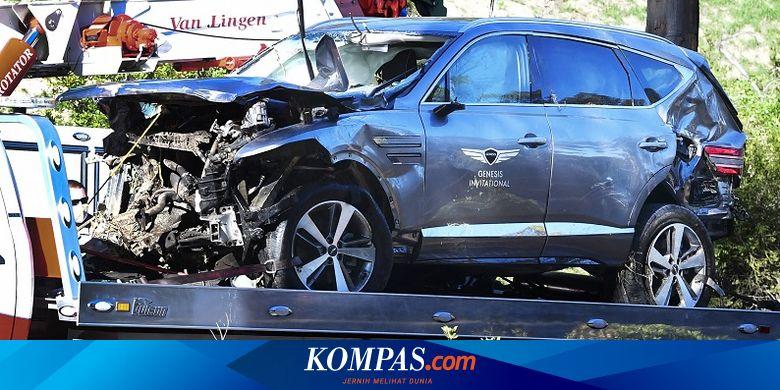 Kronologi Kecelakaan Tiger Woods, Mobil Terguling