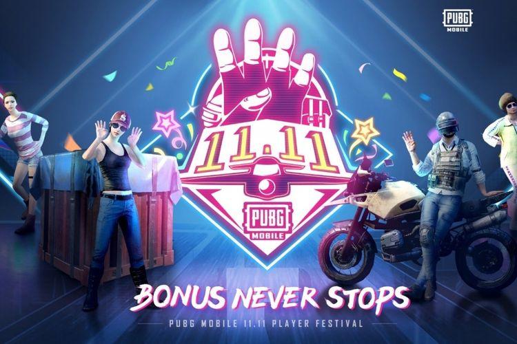 PUBG Mobile resmi meluncurkan Program 11.11 dalam rangka ikut menyemarakkan Hari Belanja Online Nasional 11.11.