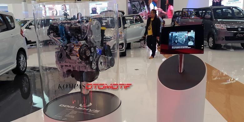 Mesin hibrida SHVS (Smart Hybrid Vehicle by Suzuki) diperkenalkan di Gaikindo Indonesia International Auto Show 2015.