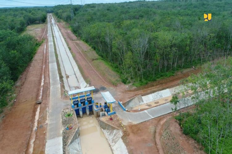 Jaringan irigasi di OKU Timur