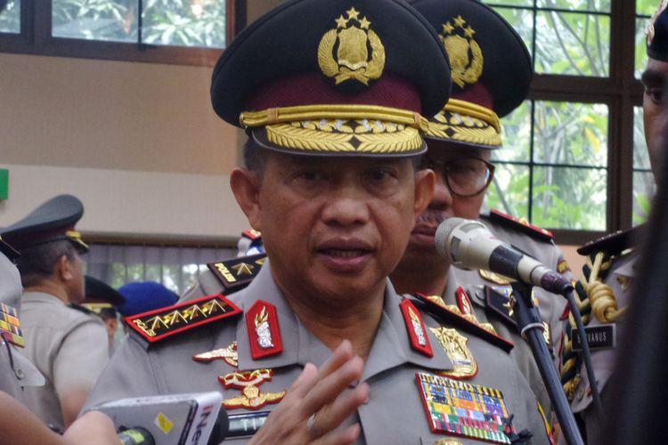 Kapolri Jenderal Pol Tito Karnavian di Rupatama Mabes Polri, Jakarta, Rabu (11/1/2018).
