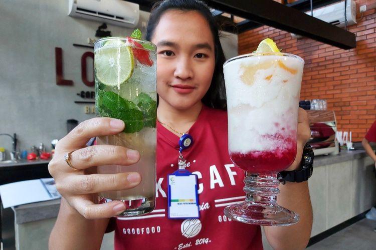 Loko Cafe menawarkan beragam minuman segar dan tradisional.