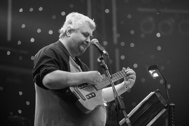 American singer/songwriter Daniel Johnston performing live as part of the ATP Festival, curated by Matt Groening at Minehead on May 9 2010. - Job: 86053 Ref: EWT -  (Photo by Edd Westmacott/Photoshot/Getty Images)
