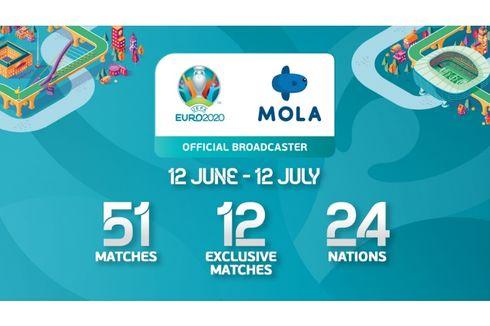 Kabar Gembira, Seluruh Pertandingan UEFA Euro 2020 Disiarkan Langsung di Mola