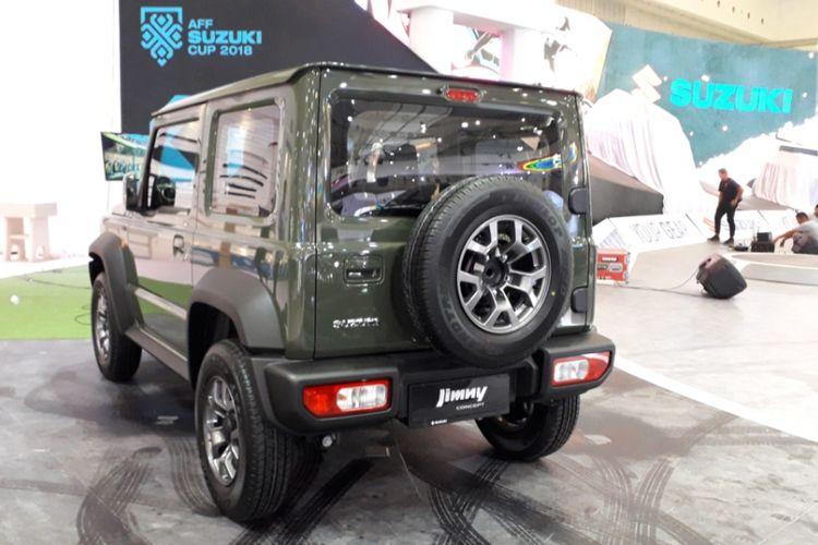 Penampakan Suzuki Jimny Sierra di ICE BSD, Tangerang Selatan, Rabu (1/8/2018) atau sehari menjelang dibukanya Gaikindo Indonesia International Auto Show (GIIAS) 2018.