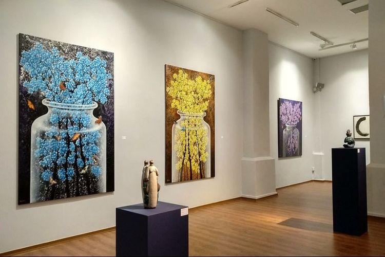Karya pelukis Indonesia Agus YK Priyono di REDSEA Art Gallery