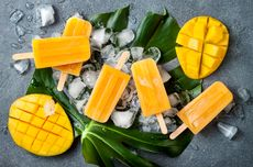 Resep Es Krim Loli Mangga Yoghurt, Bikin Pakai Blender