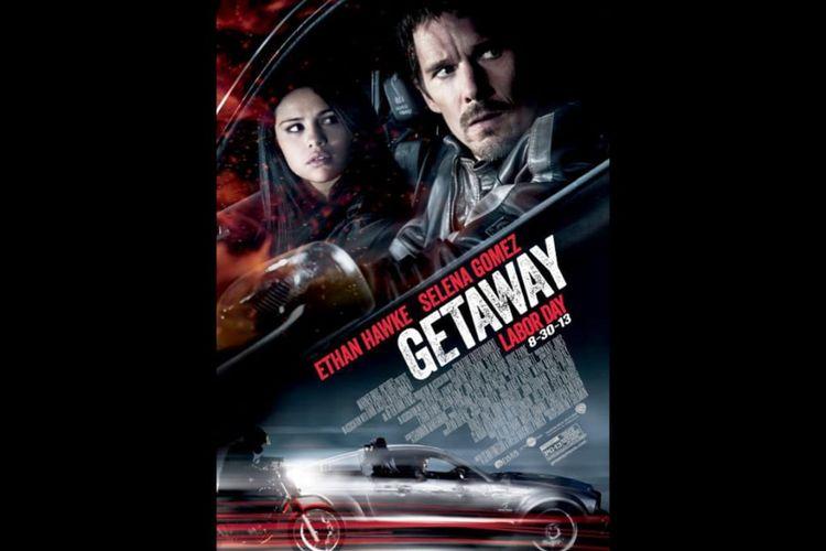 Poster film Getaway (2013) dibintangi  Ethan Hawke dan Selena Gomez.