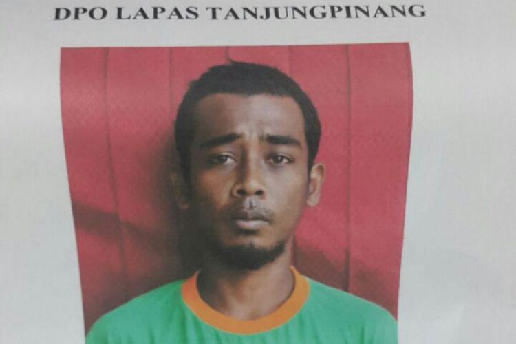 Muhammad Effendi, salah satu warga binaan yang kabur dari Lapas Tanjungpinang.