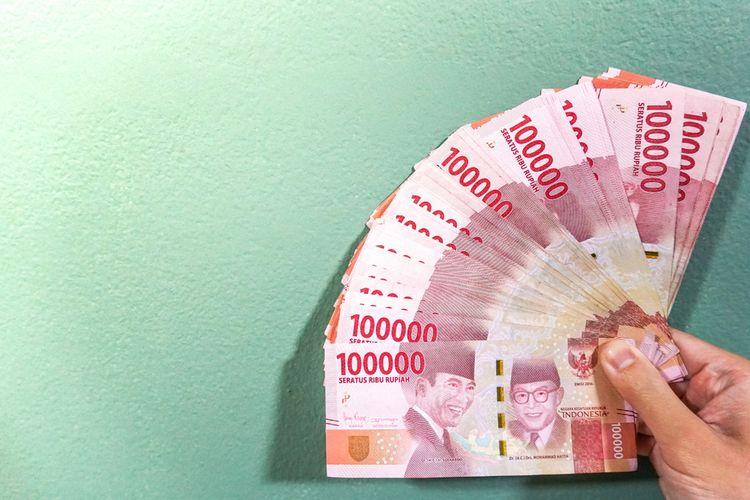 Ilustrasi gaji, upah, rupiah