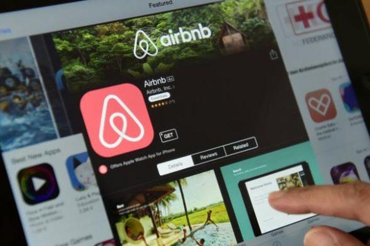 Ilustrasi layanan Airbnb.