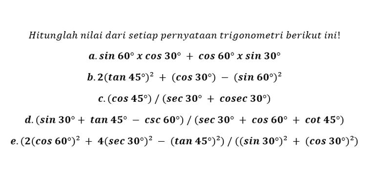 14+ Nilai dari tan 60 sin 30 per cos 60 info