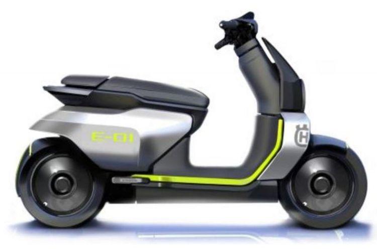 Desain skuter listrik Husqvarna