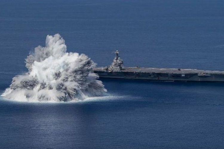 Uji ledakan dari Angkatan Laut AS. [US NAVI VIA BBC INDONESIA]