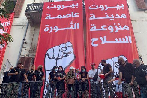 Demo Ledakan Beirut, Massa Duduki Kantor Kemenlu Lebanon