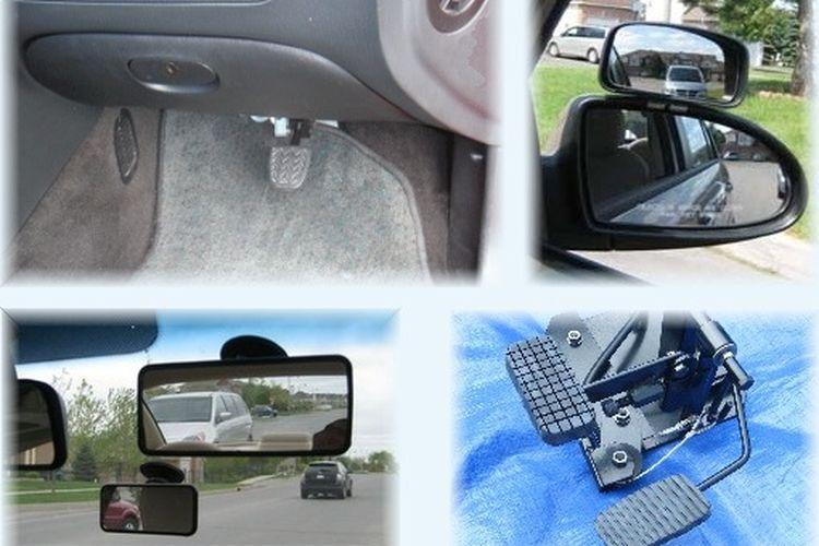 Ilustrasi mengenai kelengkapan tambahan untuk belajar mobil