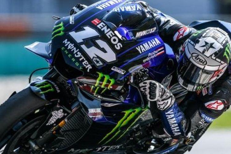 Pebplap Monster Energy Yahama, Maverick Vinales, akan tampil lepas dalam lanjutan MotoGp seri Amerika Serikat, Jumat (12/4/2019)