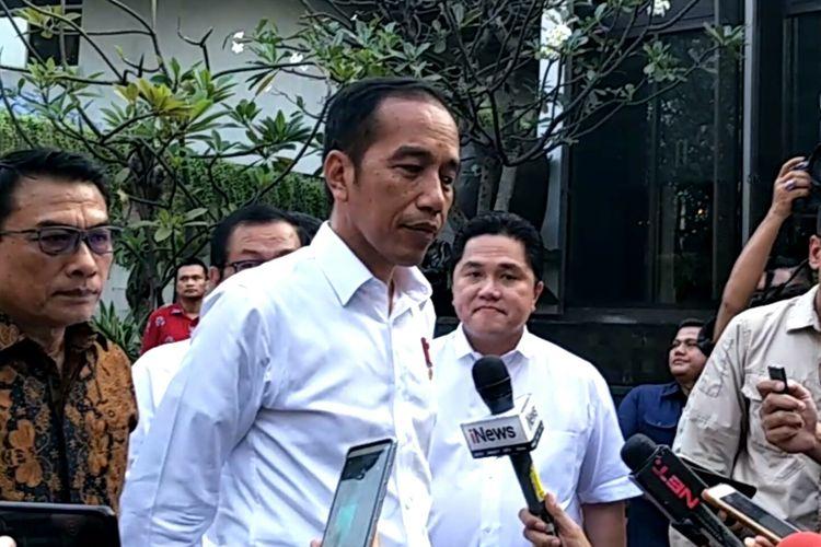Presiden Joko Widodo hadiri pembubaran TKN