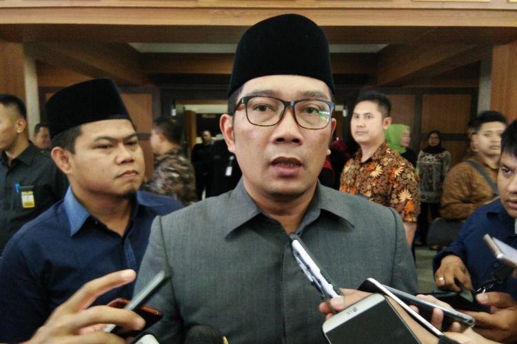 Gubernur Jawa Barat Ridwan Kamil saat ditemui di Gedung DPRD Jabar, Jalan Diponegoro, Senin (9/11/2018).