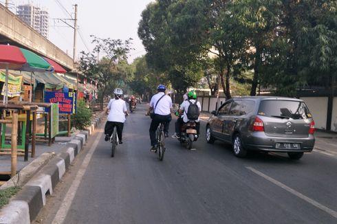 Uji Coba Hari Pertama, Belum Semua Jalur Sepeda Diberi Marka