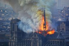 Pekerja Konstruksi di Katedral Notre-Dame Langgar Larangan Merokok