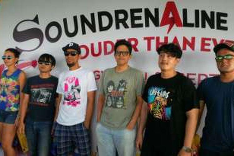 The Upstairs diabadikan saat persiapan sebelum manggung dalam gelaran musik Soundrenaline 2016 di Garuda Wisnu Kencana (GWK), Badung, Bali, Jumt (3/9/2016).