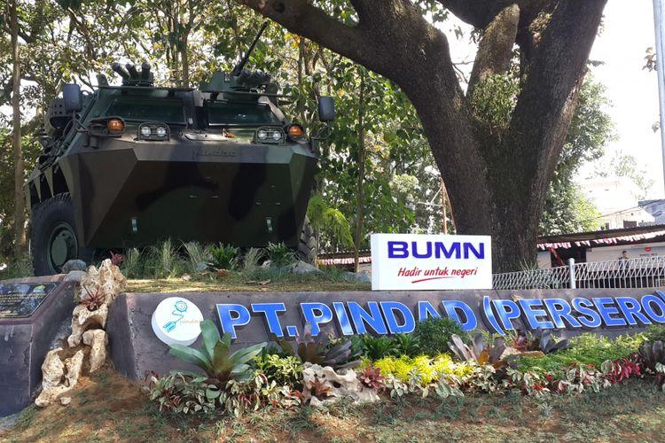 Monument Panser Anoa 6×6 yang ada di pojok Taman Trunojoyo, Kota Malang, Minggu (19/8/2018)